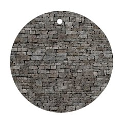 Stone Wall Grey Round Ornament (two Sides)  by trendistuff