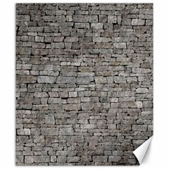Stone Wall Grey Canvas 20  X 24   by trendistuff