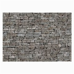 Stone Wall Grey Large Glasses Cloth (2 Side) by trendistuff