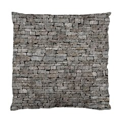 Stone Wall Grey Standard Cushion Cases (two Sides)  by trendistuff