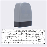 STONE WALL GREY Name Stamps 1.4 x0.5  Stamp