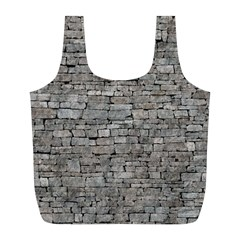 Stone Wall Grey Full Print Recycle Bags (l)  by trendistuff