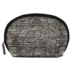 Stone Wall Grey Accessory Pouches (large)  by trendistuff