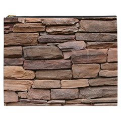 Stone Wall Brown Cosmetic Bag (xxxl)  by trendistuff