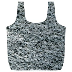 Rough Grey Stone Full Print Recycle Bags (l)  by trendistuff