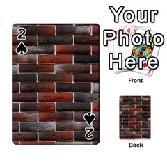 Red And Black Brick Wall Playing Cards 54 Designs  by trendistuff