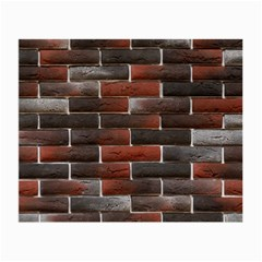 Red And Black Brick Wall Small Glasses Cloth (2-side) by trendistuff