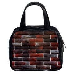Red And Black Brick Wall Classic Handbags (2 Sides) by trendistuff