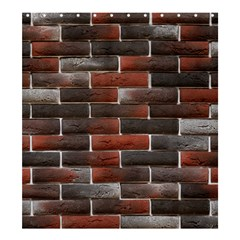 Red And Black Brick Wall Shower Curtain 66  X 72  (large)  by trendistuff