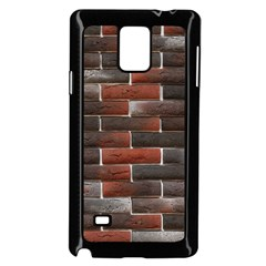 Red And Black Brick Wall Samsung Galaxy Note 4 Case (black) by trendistuff
