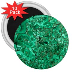 Marble Green 3  Magnets (10 Pack)  by trendistuff