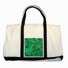 Marble Green Two Tone Tote Bag  by trendistuff