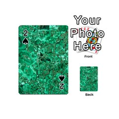 Marble Green Playing Cards 54 (mini)  by trendistuff