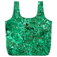 Marble Green Full Print Recycle Bags (l)  by trendistuff