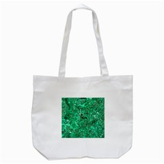 Marble Green Tote Bag (white)  by trendistuff