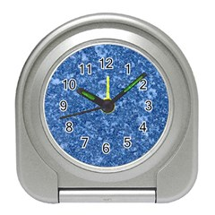 Marble Blue Travel Alarm Clocks
