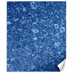 Marble Blue Canvas 8  X 10  by trendistuff