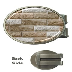 Light Brick Wall Money Clips (oval)  by trendistuff