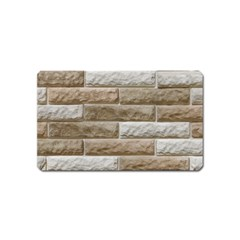 Light Brick Wall Magnet (name Card) by trendistuff