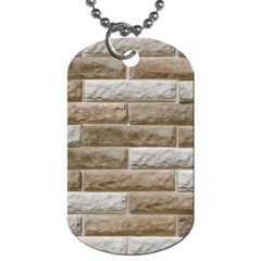 Light Brick Wall Dog Tag (two Sides) by trendistuff