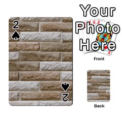 Light Brick Wall Playing Cards 54 Designs  by trendistuff
