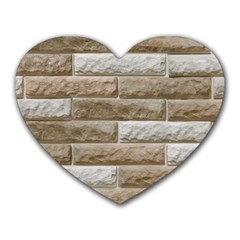 Light Brick Wall Heart Mousepads