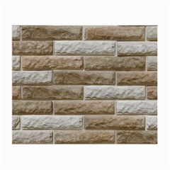 Light Brick Wall Small Glasses Cloth (2 Side) by trendistuff