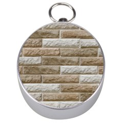 Light Brick Wall Silver Compasses by trendistuff