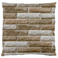 Light Brick Wall Large Flano Cushion Cases (two Sides)  by trendistuff