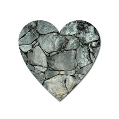 Grey Stone Pile Heart Magnet by trendistuff