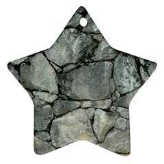 Grey Stone Pile Star Ornament (two Sides)