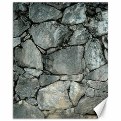 Grey Stone Pile Canvas 11  X 14   by trendistuff