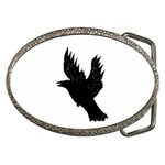 CROW Belt Buckle (Oval) Front