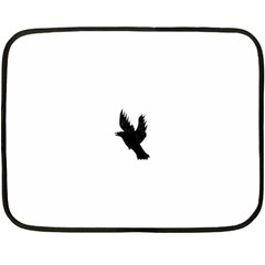 Crow Double Sided Fleece Blanket (mini)  by JDDesigns