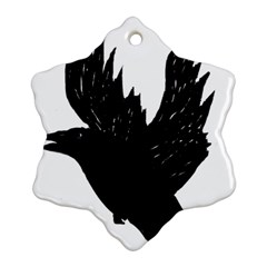 Crow Ornament (snowflake)  by JDDesigns