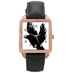 Crow Rose Gold Watches by JDDesigns