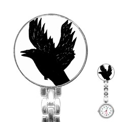 Crow Stainless Steel Nurses Watches by JDDesigns