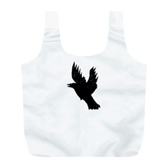 Crow Full Print Recycle Bags (l)  by JDDesigns