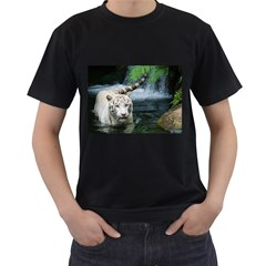 Whitetiger Men s T Shirt (black) (two Sided)