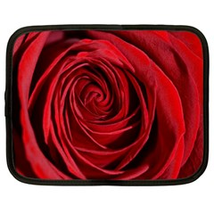 Beautifully Red Netbook Case (large) by timelessartoncanvas