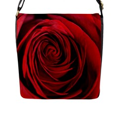 Beautifully Red Flap Messenger Bag (l)  by timelessartoncanvas