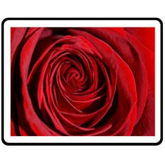 Beautifully Red Double Sided Fleece Blanket (medium)  by timelessartoncanvas