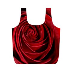 Beautifully Red Full Print Recycle Bags (m)  by timelessartoncanvas