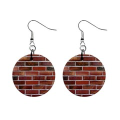 Colorful Brick Wall Mini Button Earrings by trendistuff