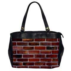 Colorful Brick Wall Office Handbags by trendistuff