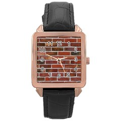 Colorful Brick Wall Rose Gold Watches by trendistuff