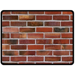 Colorful Brick Wall Double Sided Fleece Blanket (large)  by trendistuff