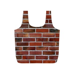 Colorful Brick Wall Full Print Recycle Bags (s)  by trendistuff