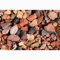 Colored Rocks Collage 12  X 18  by trendistuff