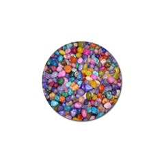 Colored Pebbles Golf Ball Marker (10 Pack) by trendistuff